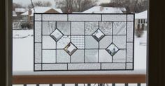 Stained glass panel window geometric clear quilt sampler stained glass window panel modern window hanging abstract suncatcher GS4