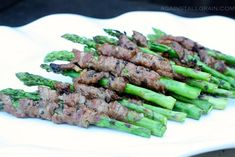 Korean Beef Wrapped Asparagus - Against All Grain