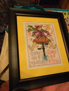 I stitched & framed this one for Linda Smith's retirement (2011).