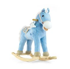 The animated plush rocking horse with teddy. For children up to 30 kg. Plush Rocking Horse, Wooden Rocker, Horse Tail, Wooden Handles, Toddler Toys, Smurfs, Dinosaur Stuffed Animal, Fisher Price, Hot Wheels