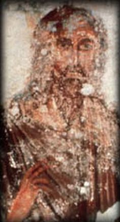 Jesus of Nazareth fresco, Catacombs of Domitilla, Rome, Italy, century. Images Of Christ, Images Of Mary, Early Christian, Christian Art, Religious Icons, Religious Art, Jesus Face, Religious Paintings, Biblical Art