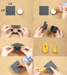 Te enseño a hacer una manualidad de graduación, una caja birrete, fácil y rápido…