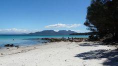 White sand beach Freycinet Tasmania