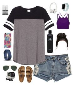 """SOFTBALL RTD"" by nikesoftballlovin ❤ liked on Polyvore featuring Victoria's Secret PINK, Birkenstock, Casetify, Fitbit, NIKE, Lorna Jane, Ray-Ban, GoPro and Beats by Dr. Dre"