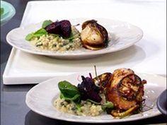 Ligero y liviano - Pollo al limón y risotto de cebada