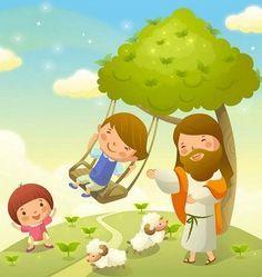 Dibujos de jesus con niosImagenes y dibujos para imprimir