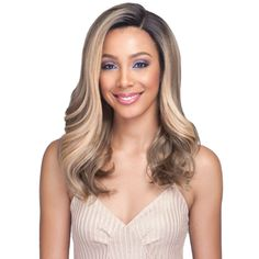 Draya - MLF352 - Swiss Lace Premium Synthetic Lace Front Wig by Bobby – Waba Hair and Beauty Supply Frontal Hairstyles, Bob Hairstyles For Fine Hair, Long Bob Haircuts, Permed Hairstyles, Blonde Wig, Blonde Ombre, Ombre Hair, Wig Styles, Long Hair Styles