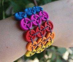 DIY Button Bracelet http://www.ishouldbemoppingthefloor.com/2013/10/how-to-create-sliding-barn-door.html Visit & Like our Facebook page! https://www.facebook.com/pages/Santas-Helpers/251688461649019?ref=hl