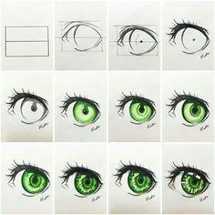 eyes drawing step by step tutorial