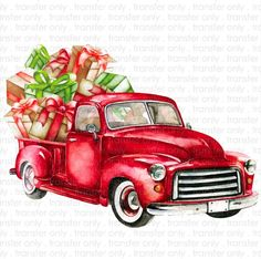 Come and enjoy this Fabulous Free Printable Christmas & Holiday Cards. Free Printable Christmas Cards are too cute! Christmas Red Truck, Christmas Tree Cards, Christmas Clipart, Christmas Images, Christmas Art, Holiday Cards, Christmas Holidays, Vintage Christmas, Christmas Ideas