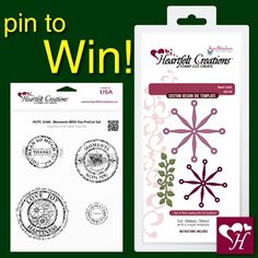Follow us and repin for a chance to win. A stamp set and die giveaway... 2 winners will be random selected. Contest closes Nov. 10th, 2013 at 11:59 PM. Winners will be announced in a Pin on Nov.11, 2013. Good Luck!