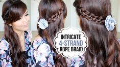 Intricate 4-Strand Rope Braid Hairstyle + NuMe Curl Jam Giveaway ♫
