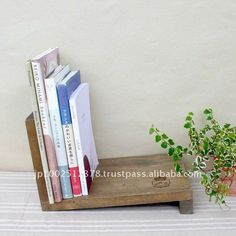 Contemporary wooden bookend $4.80~$5.40