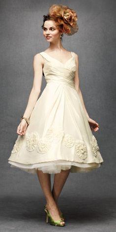 cute short wedding dress!