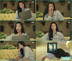 sim chung funny reacting while watching the korean dramas and movies - The Legend of the Blue Sea - Episode 2 (Eng Sub)