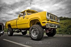 American Muscle Truck this yellow ole girl is flexing......