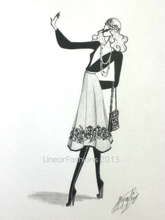 Fashion Illustration 1970s Boho Hippie By LinearFashions 4200 Images I Love