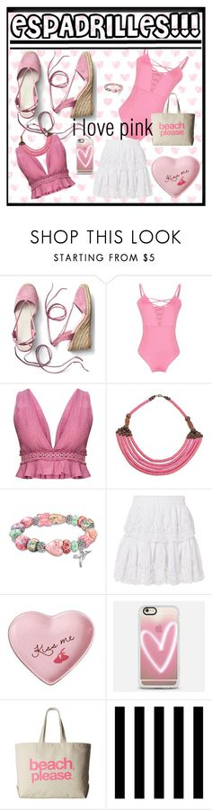 """""""espadrilles"""" by traceyenorton ❤ liked on Polyvore featuring Gap, NOVICA, The Bradford Exchange, LoveShackFancy, Fitz & Floyd, Casetify, Dogeared and Tempaper"""