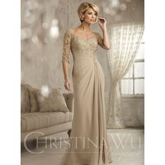 Mothers Dress Available at Ella Park Bridal | Newburgh, IN | 812.853.1800 | Christina Wu Elegance - Style 17823 in Sand (as pictured), Navy, Cornflower