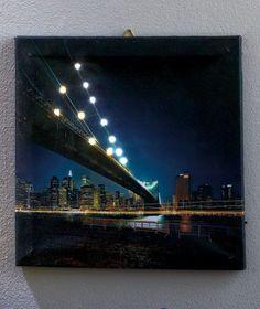 LED Lighted Canva Wall Art London NewYork City View Nightlight Home Decor | eBay