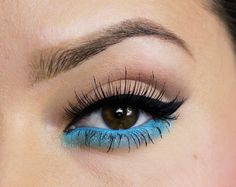 Maquillaje en turquesa