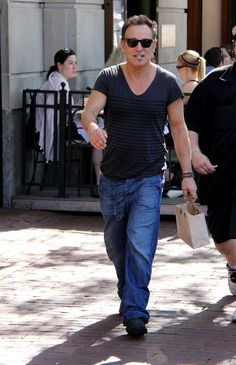 Bruce Springsteen Out in Boston