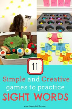 11 games for sight word learning that kids love. Use items from around the house to get your kids reading  and master sight words without a worksheet in sight! Sight Word Spelling, Sight Word Practice, Sight Word Games, Sight Words, 2nd Grade Activities, Spelling Activities, Writing Activities, Fun Activities, Word Skills