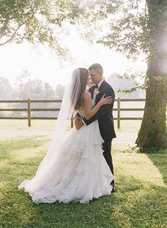 ruffled wedding gown | Lynnesy Catron