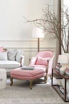South Shore Decorating : Pretty Pinks: Pale, Pastel Soft Pink Rooms