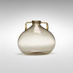 Vittorio Zecchin. Soffiato vase. c. 1925, soffiato glass with applied handles. 8 w x 5 d x 7 h in.