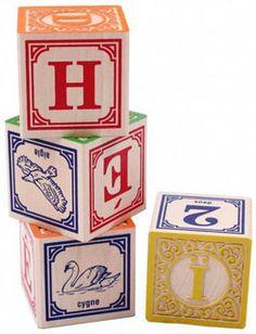 Cubes Uncle Goose Alphabet et chiffres - Jeux d'éveil chez Bianca and Family