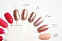 The Beauty Look Book: Tom Ford Spring Nail Polish Comparisons to Chanel, MAC, Marc Jacobs, NARS, YSL and Laura Mercier