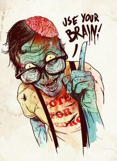 nerd zombie.. :)