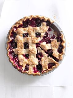 Cherry-Berry Jumble Fruit Pie  - CountryLiving.com