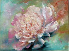 """Купить Картина маслом """"Пион"""",40х30 (цветок, цветы,лето) - картина в подарок, картина маслом"""