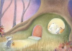 Leading Illustration & Publishing Agency based in London, New York & Marbella. Woodland Illustration, Children's Book Illustration, Cartoon Drawings, Cute Drawings, Postcard Art, Sketchbook Inspiration, Watercolor Animals, Cool Paintings, Whimsical Art