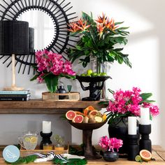 #artificialflowers #fakeflowers #imitationflowers #flowers #diyhomedecor #homedecor #diy #homestyle #homestyling #artificialflowerarranging #artificialflowerarrangement #flowerdecor Tropical Artificial Flowers, Artificial Flower Arrangements, Fake Flowers, Succulent Pots, Planting Succulents, Table Decorations, Flower Decorations, Plastic Glass, Bougainvillea