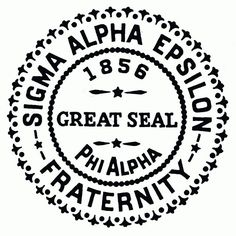 See this Instagram photo by @cncordray Sigma Alpha Epsilon, great seal