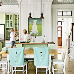 beach dining room, kitchen