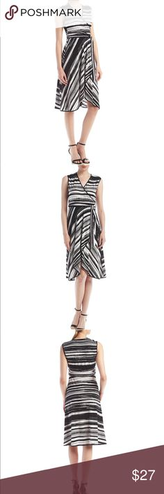 NWT Calvin Klein black & white striped dress! NWT Lovely Calvin Klein black and white flowy Great for spring or summer Very fun and flirty  Bundle and save for a private offer 🛍🛍 Calvin Klein Dresses