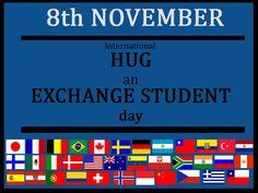 hug and exchange student