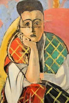 Woman with a Veil (Henri Matisse - French 1869 - 1954) Nice, winter-spring 1927.  Oil on canvas.