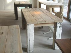 tables made of old wood