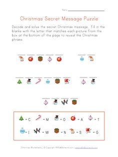This Christmas puzzle makes a fun holiday activity for kids. Description from allkidsnetwork.com. I searched for this on bing.com/images