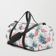 Summer Flamingo Palm Vibes Duffle Bag by anitabellajantz Duffle Bags, Tropical Decor, Flamingo, Gym Bag, Palm, Backpacks, Summer, Stuff To Buy, Flamingo Bird