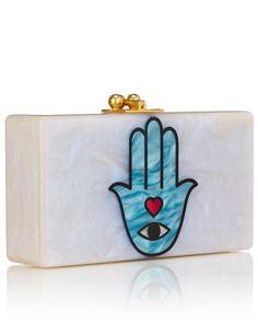 Multi Acrylic Sacred Hand Clutch