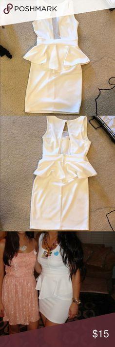White peplum dress White peplum dress Dresses