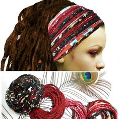 Check out this item in my Etsy shop https://www.etsy.com/listing/533973791/dreadlock-accessories-headband-head