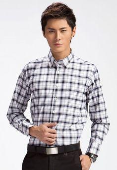Dark Blue Check Shirt | www.changingrm.com/men-with-charm/219-dark-blue-check-shirt.html