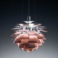 PH Artichoke Pendant by Louis Poulsen Modern Lighting Design, Unique Lighting, Pendant Lighting, Lighting Ideas, Modern Design, Lamp Light, Copper Rose, Mid Century Modern Lighting, Modern Pendant Light